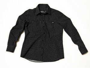 Polka Dot Button Up $25.00